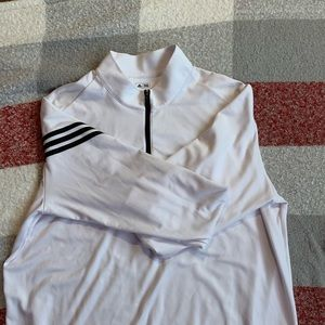 White Adidas Golf  Pullover